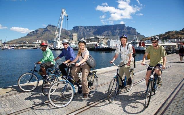 fietsen in Kaapstad