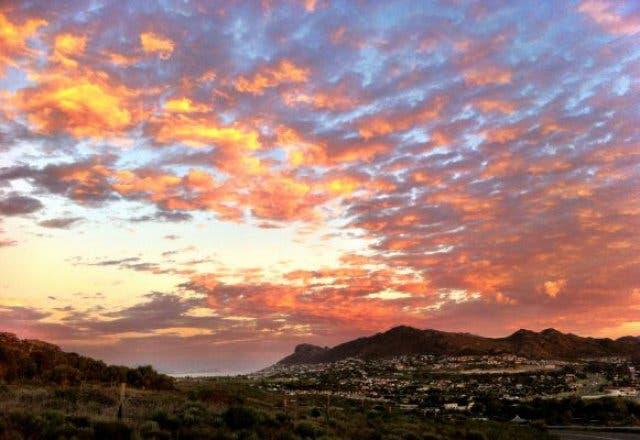 zonsondergang Noordhoek
