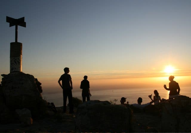 zonsondergang kaapstad